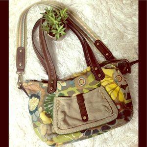 Fossil handbag purse boho